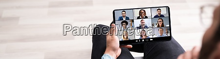 business video conference webinar chat