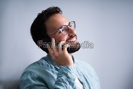 male man talking on mobile phone