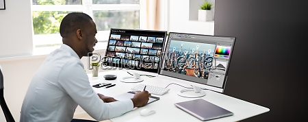 african graphic web designer