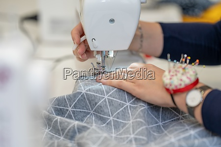 sew dressed on a sewing machine