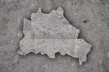 map of berlin on weathered concrete
