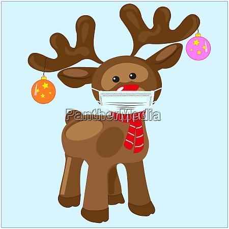 vector eps 10 rudolf the reindeer