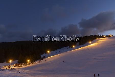 evening skiing in ski center donovaly