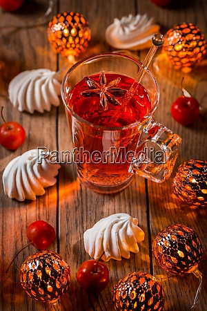 spicy winter tea or punch with
