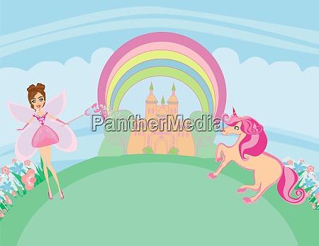 unicorn and fairy lovely fairy