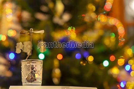 modern christmas decoration with christmas tree