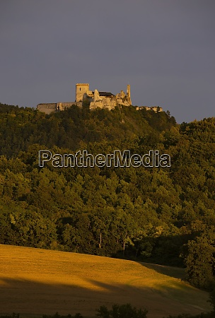 cachtice ruins in west slovakia