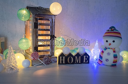 christmas background home decoration