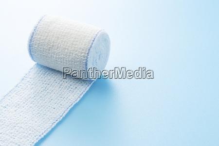 bandages on a blue background