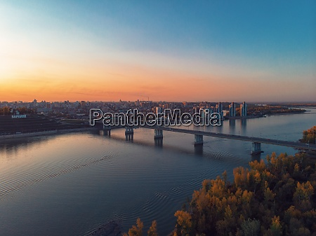 aerial shot of view to barnaul