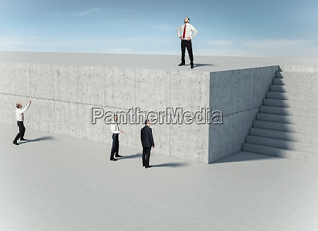 business people in front of a