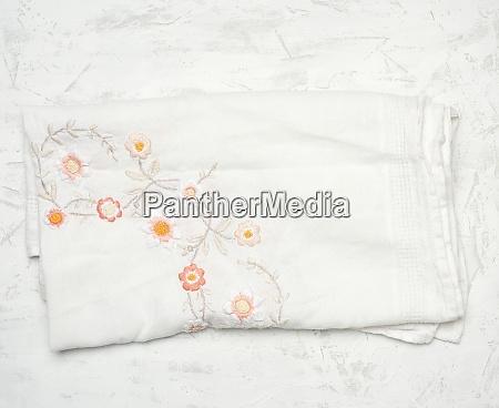 white textile kitchen towel on white