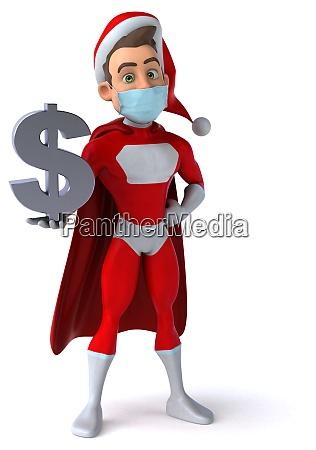 fun super santa claus with a