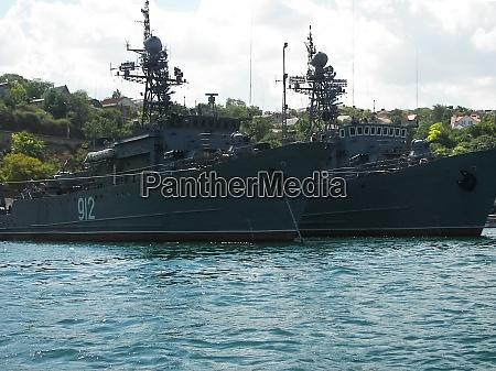 vessels in the port of sevastopol