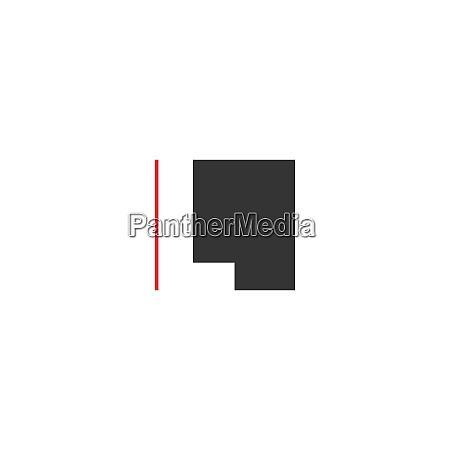 letter l on square design
