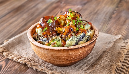 asian fried cauliflower