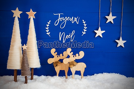 christmas tree moose snow star joyeux