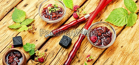 eastern shisha with berry jam