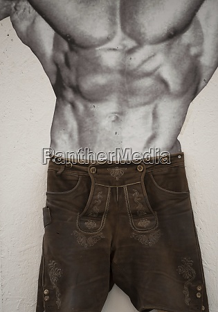 man in traditional leather pants