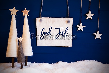 christmas tree blue background snow god