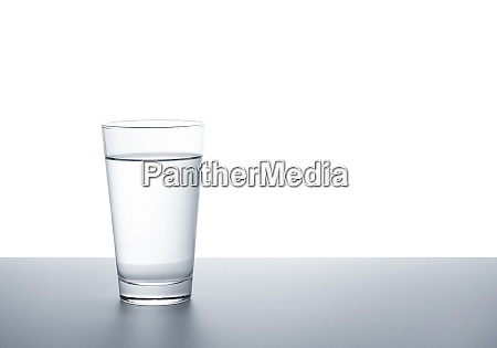 a clear glass of water on