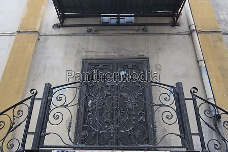wrought iron balcony at a residential