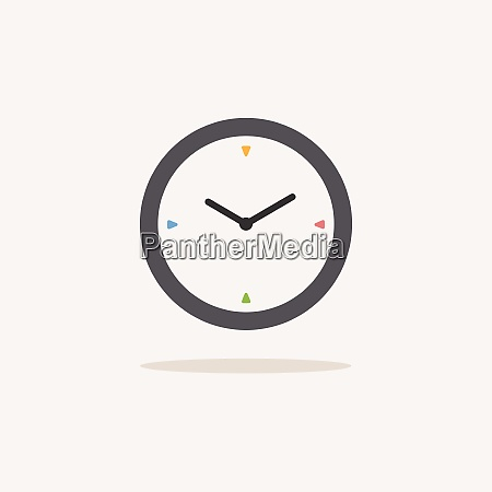 clock color icon with shadow weather