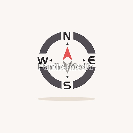 compass., north, direction., color, icon, with - 28997855