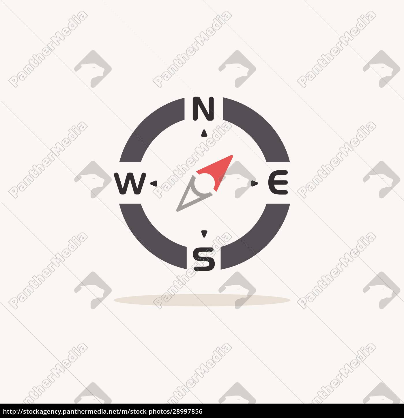 compass., north, east, direction., color, icon - 28997856