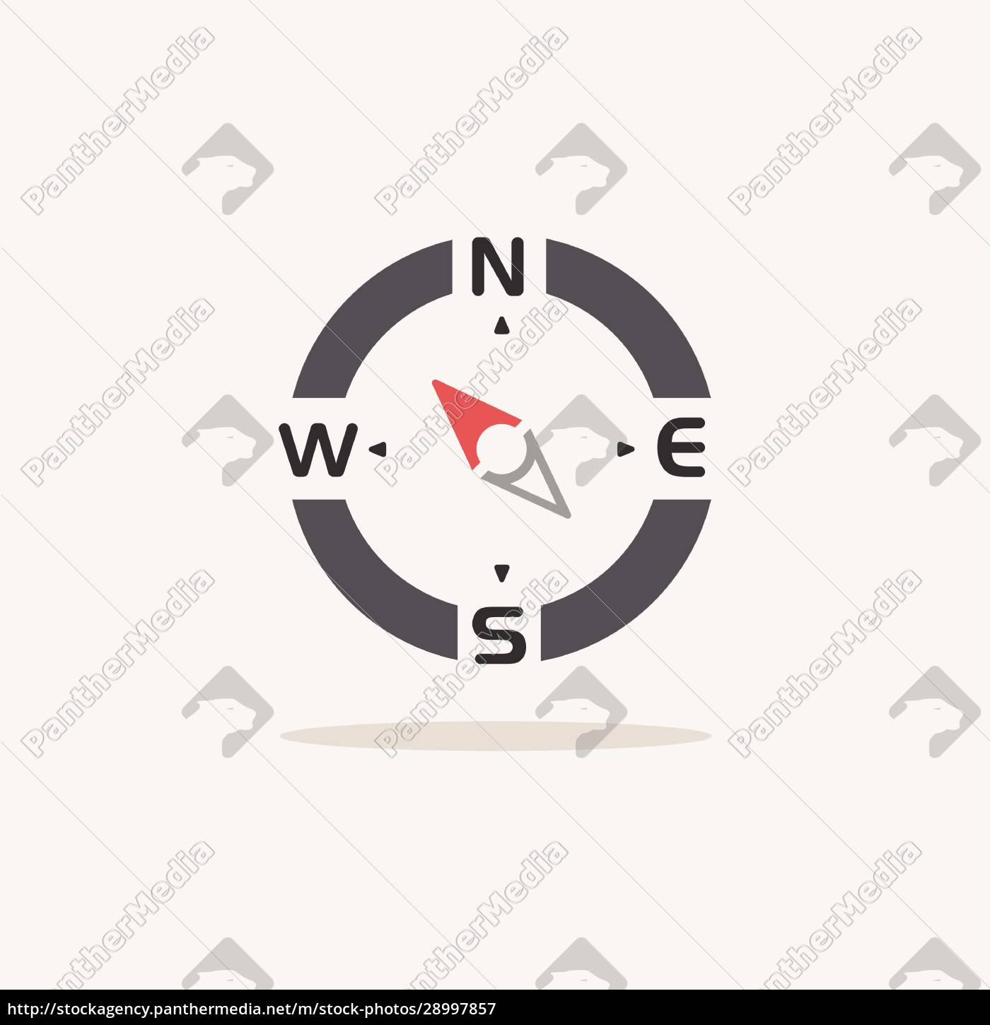 compass., north, west, direction., color, icon - 28997857
