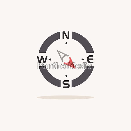compass., south, east, direction., color, icon - 28997859