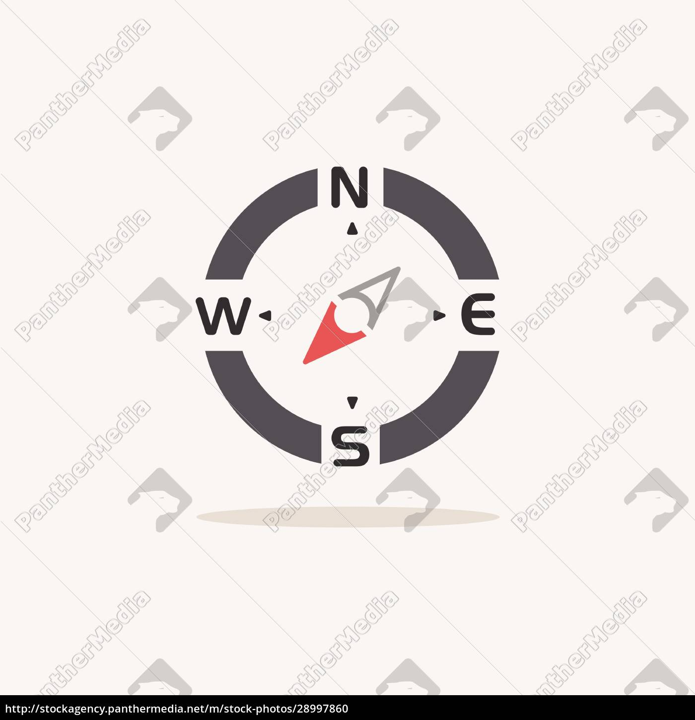 compass., south, west, direction., color, icon - 28997860