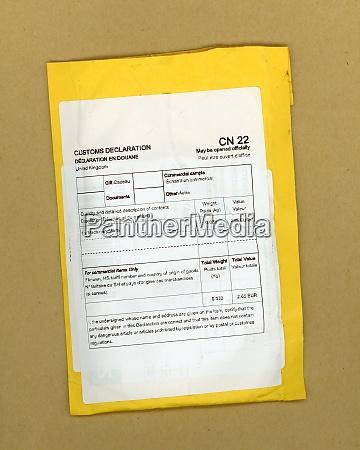cn22 customs declaration for international shipping