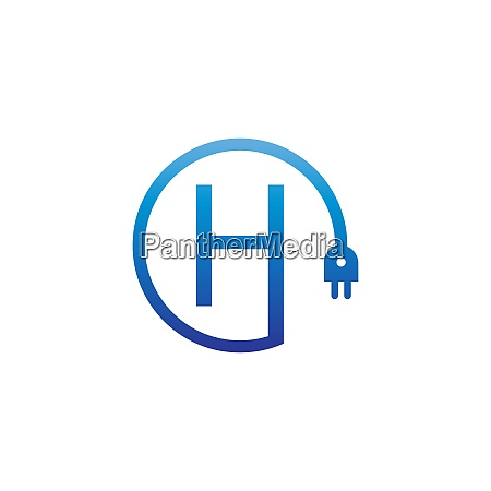 power cable forming letter h logo