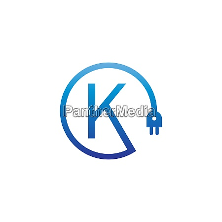 power cable forming letter k logo