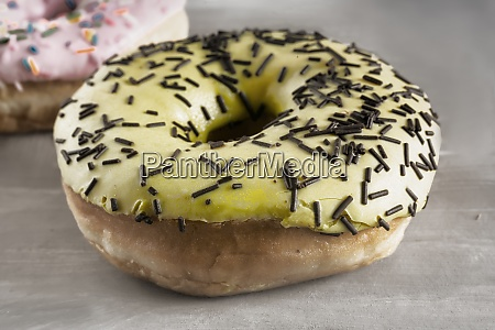 delicious cake covered with icing and