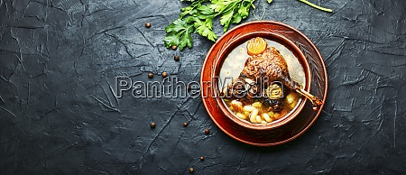 appetizing goose soup