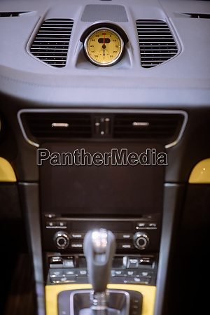 exotic car central console on the