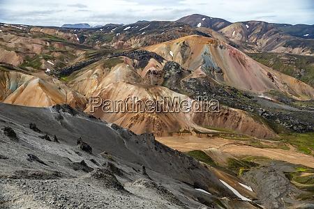 volcanic mountains of landmannalaugar in fjallabak