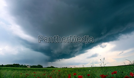 tornado atmospheric whirlwind in a cumulonimbus