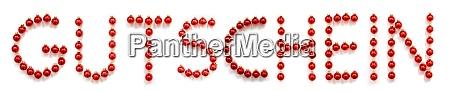 red christmas ball ornament building gutschein