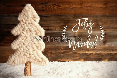 fabric christmas tree snow feliz navidad
