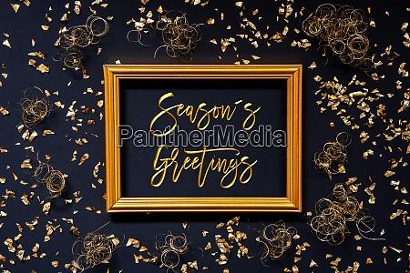 frame golden glitter christmas decoration text