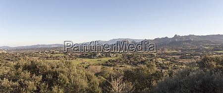 view of landscape in sardinia during