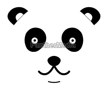 panda cute face
