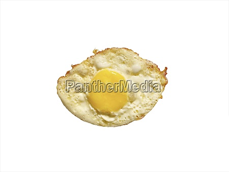 fried egg isolated on white selective