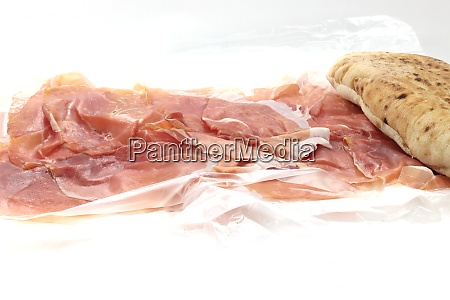 sandwich and raw ham sandwich and
