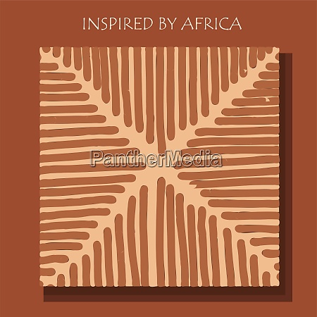 inspired by africa african background flyer