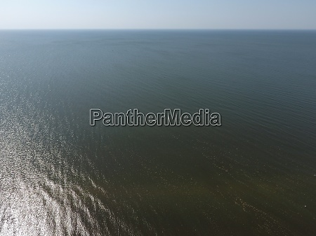 top view of the sea of