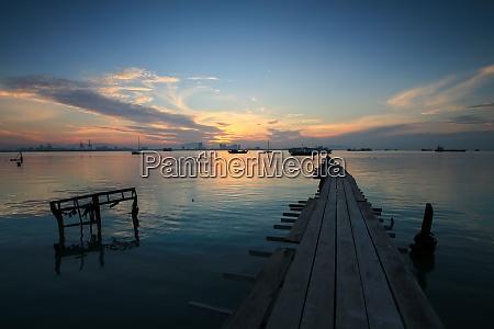 wooden bridge at tan jetty georgetown